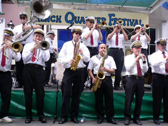 magnolia jazz band at french quarter festival