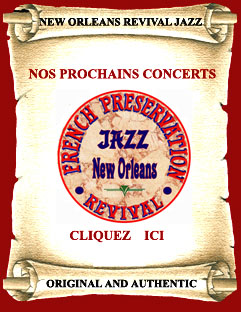 Groupe jazz new orleans, orchestre jazz new orleans,  planning french preservation